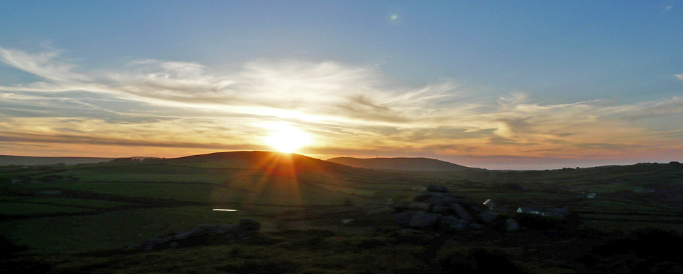 Sunset from Trencrom Hill, Penwith Cornwall